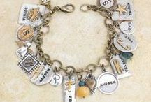 Mother's Charm Bracelets / Charm Bracelets with Stamped Names on our Classic Everyday Bracelets / by NelleandLizzy.com