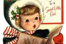 Christmas Cards (vintage) / Christmas greeting cards, all vintage / by Lennie Locken