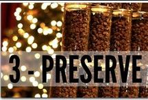 PRESERVE Food Storage / You have tonz of food, now what? Make sure you keep it from unwanted bugs and pests by preserving it correctly! www.PREPARED-HOUSEWIVES.com / by PREPARED HOUSEWIVES