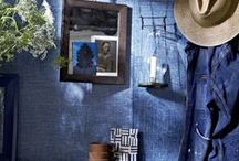Denim / Indigo is a color that knows no borders and has many different moods. House Beautiful's American Rustic environment in the September 2014 issue celebrates the iconic textiles that inspired Ralph Lauren Paint's Indigo Denim technique. / by Ralph Lauren Home