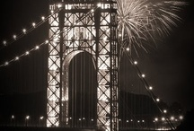 George Washington Bridge / An iconic and elegant bridge spanning the Hudson River and connecting northern Manhatten, in Washington Heights, New York City, to Fort Lee, New Jersey.  / by D W