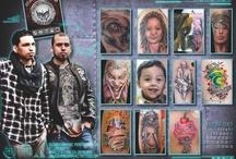 Calendario de Tatuajes 2013 / Calendario de tatuajes. Cada mes del año podrás ver uno de nuestros artistas tatuadores que colaboran en el portal www.tatuadores.es. Descárgate las imágenes para ponértelas como fondo de escritorio en tu ordenador. / by Tatuadores.es