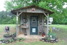 Garden Sheds,Greenhouses and Deco / Love Potting Sheds and everything that goes around them..  / by Renee Thurber