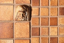 Alhambra™ Rustic Tile Collection / Alhambra™ evokes the rich tile heritage of Andalusia, Spain. Rich glazes, intricate relief, and outstanding quality make this collection perfect for creating your own palace. Made entirely by hand by one of America's leading tile artisans using an old world firing process, Alhambra is frost proof and requires no sealant. Ideal for pool surrounds, outdoor living spaces as well as all interior applications. / by Country Floors