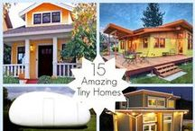 Dream Homes ♥ Tiny Homes / I am Fascinated by Tiny Homes and all the Clever Ideas they Implement for Living Space and Organized Storage / by Michelle Sanchez ~ Dream Biz Coach ~ Pinning Power Profits