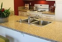 Color Quartz / Color Quartz engineered stone from Country Floors offers the perfect combination of technology and nature. Composed of bits of quartz held together in an industrial grade binder, Color Quartz offers a wide range of colors with impressively low maintenance requirements. This may be the ideal material for the fiercely used kitchen. / by Country Floors