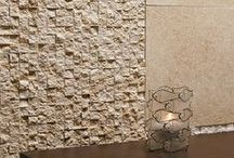 Alterra Seashell Tumbled Stone / The Alterra Stone Collection from Country Floors features an antiqued surface that is reminiscent of the natural stone floors and walls worn to a patina throughout the centuries. These unique stones in five distinct colors and four shapes provide an unlimited array of design options and opportunities for both residential and commercial usage. / by Country Floors