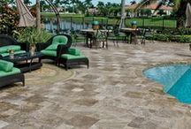 Capri Tumbled Paver / The Capri Tumbled Paver from Country Floors is the natural way to enjoy nature's beauty. This multi- use natural paver stone can be used on driveways, patios, pool decks and more. These beautiful pavers can be installed in either sand or cement. This collection brings color, style and design for every living space. / by Country Floors
