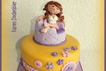 girls b'day cake / by All About Fondant (and others)