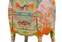 colorful furniture / painted and other colorful furniture, trunks / by vera j