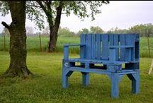 Pallet / Camas, cabeceras, sofás, muebles, mesas, bares y más todos hechos de palets, pallets, palettes.   / by Pallets - Reciclaje