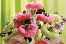 Bukiety z cukierkami / Bouquets of sweets  / by Wanda Zamojska