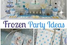 Party: Frozen / Disney's Frozen is the perfect theme for a kids party or holiday party.  This board is a collection of Frozen Party Ideas that focus on Olaf, Elsa and the light blue party colors. Frozen party food, DIY Frozen crafts and games, snowflake crafts, etc. This is inspiration for my daughter's First Birthday that will be Frozen Winter Wonderland Party.   / by Mandy {The Household Hero}