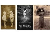 "F@nt@sy-Peculi@r Children / ""Miss Peregrine's Home For Peculiar Children"" & the sequel ""Hollow City"", by Ransom Riggs. Items are posted here on the books, the author & Tim Burton's film...As well as other ""peculiar"" vintage images that look like they could belong to Miss Peregrine! / by Marcie Orcutt"
