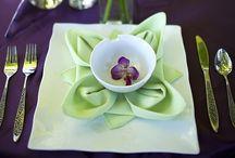 Napkin folds / How to do napkin folds / by Debbie Ellison