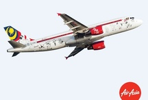 """AirAsia Plane Livery / Welcome to AirAsia's """"Gallery in the Sky"""" where our AirAsia aircrafts tells a story of our journey from our start up in 2001 to the Asean airline that we are today! / by AirAsia"""