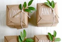Gift Packaging & Wrapping / packaging, wrapping, how to make bows, gift tags, cards, envelops and gift toppers / by Amelia