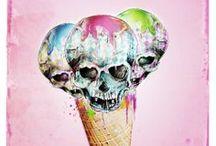 skull is cool / by illustrarts
