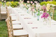 Backyard wedding reception / Decor ideas / by Becky San Marco