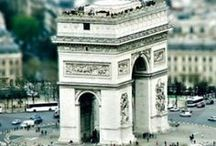 PARIS ~ LANDMARKS / Iconic Paris: the Seine, the Arc de Triomphe, the museums, the famous bridges, Sacre Coeur, Notre Dame and the Cathedrals...(The Eiffel Tower and The Louvre have boards of their own! Please feel free to check them out.)  / by C:Marie