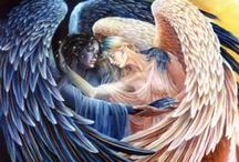 Angelkind / Angel paintings, sculpture, drawings, quotes, etc.. from different places and cultures / by Darlene Engebretsen