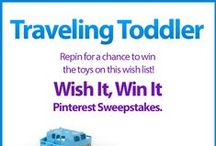Wish It, Win It: Traveling Toddler / Wish It, Win It Pinterest Sweepstakes! Repin the main graphic from your favorite Wish It, Win It Kaplan Toys Pinterest board for the chance to win ALL of the items featured there! One lucky winner will be announced on Nov. 24th. / by Kaplan Toys