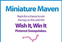 Wish It, Win It: Miniature Maven / Wish It, Win It Pinterest Sweepstakes! Repin the main graphic from your favorite Wish It, Win It Kaplan Toys Pinterest board for the chance to win ALL of the items featured there! One lucky winner will be announced on Nov. 24th. / by Kaplan Toys