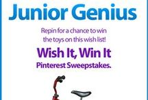 Wish It, Win It: Junior Genius / Wish It, Win It Pinterest Sweepstakes! Repin the main graphic from your favorite Wish It, Win It Kaplan Toys Pinterest board for the chance to win ALL of the items featured there! One lucky winner will be announced on Nov. 24th. / by Kaplan Toys