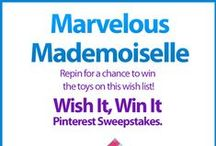 Wish It, Win It: Marvelous Mademoiselle / Wish It, Win It Pinterest Sweepstakes! Repin the main graphic from your favorite Wish It, Win It Kaplan Toys Pinterest board for the chance to win ALL of the items featured there! One lucky winner will be announced on Nov. 24th. / by Kaplan Toys