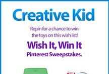 Wish It, Win It: Creative Kid / Wish It, Win It Pinterest Sweepstakes! Repin the main graphic from your favorite Wish It, Win It Kaplan Toys Pinterest board for the chance to win ALL of the items featured there! One lucky winner will be announced on Nov. 24th. / by Kaplan Toys