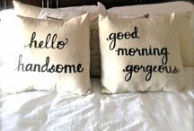 Pillow Talk / Pillows / by ARTQUIRKS by Jennifer Ambrose