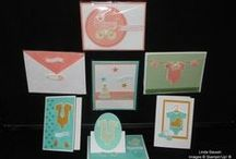 Something for Baby Stamp Set / This adorable stamp set is new in the 2014 Stampin' Up! Catalog.  It comes in a bundle which has the stamp set and framelits to match.  Buy buying in the bundle you save 15% Clear-Mount #136791 $39.75 Wood-Mount #136790 Or purchase as my Stamp of the Month Kit and gt 7 tutorials to go with your set. / by Linda Bauwin