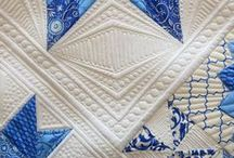 Blue and white quilts and stuff / I love blue and white. Pure blue is gorgeous, especially when offset by white. I adore quilts and textile art, so this board celebrates those visual passions. / by Ann Haley