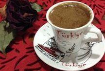 Gerçek Kahve...Türk kahvesi! / Turkish Coffee ...Black as Hell, Strong as Death, Sweet as Love...  / by Ela Nur Heweline