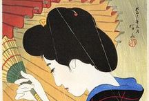 Ukiyo-e / <Pictures of a floating world >.  The main artistic genre of woodblock printing in Japan. / by Ulrike Gatzakis