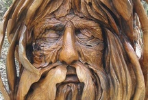 Tree Carvings / Tree carvings and wood art / by Trees