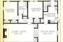 House plans / #house #home #plans #old #vintage / by biot jef