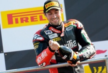 WSBK 2013 - Donington, UK / Aprilia end the Donington weekend in grand style with three RSV4s in the top 4 places. Double podium for Sylvain Guintoli who confirms his leadership in the Rider standings. Eugene Lavertyfinishes thirs in Race 2 on a difficult track for him. / by Aprilia Official