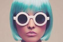 Blue Hair Chalks / How will blue hair chalk look like on your hair? Check Up for photos, tips & tricks on blue hair chalking / by HairChalk.co