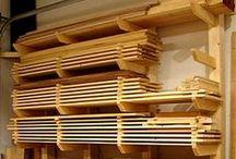 WOODWORKING - Lumber Storage / Panel Saw / Sawhorse / All about wood storage: racks, carts, etc. Panel Saw. Sheet breakdown. Sawhorses / by morsa (Sergio Morales T.)