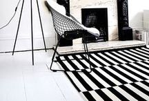 This Rug Works Everywhere / Offet (or staggered) striped rug that is graphically bold, versatile, and an instant interior decor classic. (various options available from IKEA, RugsUSA, Madeline Weinrib) / by [ KAY ]