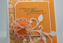 CARDS - FLORAL ORANGE/PEACH / by Elizabeth Chacich