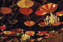 Reception Decor - Umbrellas / Check out these unique ways to decorate your reception venue with Umbrellas. / by Bella Umbrella