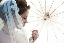 Wedding Umbrellas 2 / This is a collection of photos that our brides and or their photographers have sent us featuring our vintage rental umbrellas. / by Bella Umbrella