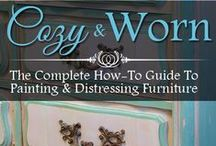 Get Our Book / Cozy & Worn - The Complete Guide To Painting & Distressing Furniture is the new book by Angie & Chris Newsom of HowToDistressFurniture.net -  Angie & Chris pack this resource full of tips and techniques for aging and distressing furniture, all in an easy to understand format with full-color photos / by How To Distress Furniture