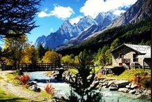 Courmayeur Mont Blanc - Aosta Valley - Italy / This is the alpine paradise where 3 Alpissima Hotels of ours are located: the Villa Novecento Romantik Hotel, the Cresta et Duc Contemporary Alpine Hotel and the Gran Baita Hotel & Wellness. / by Alpissima Mountain Hotels