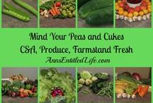 Mind Your Peas and Cukes / CSA, Produce, Farmstead Fresh - community supported agriculture, farmstand fresh produce, organic produce, fresh garden recipes more.  This is a group board. If you are a blogger who would like to join, please follow the board, and email me  your blog name and pinterest email address to annsentitledlife@yahoo.com  This board is moderated. Spam and inappropriate content will be deleted.  / by Ann's Entitled Life