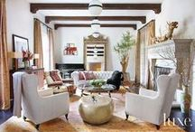 Sitting Room  / Sitting room interior inspiration with rugs / by Medallion Rug Gallery