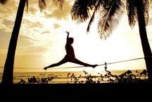 Slacklining / Slacklining, high lines, yoga slacking  / by Kera Passante