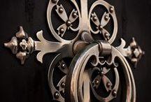 DOOR KNOCKERS HANDLES & Knobs / by Bobbie Endicott